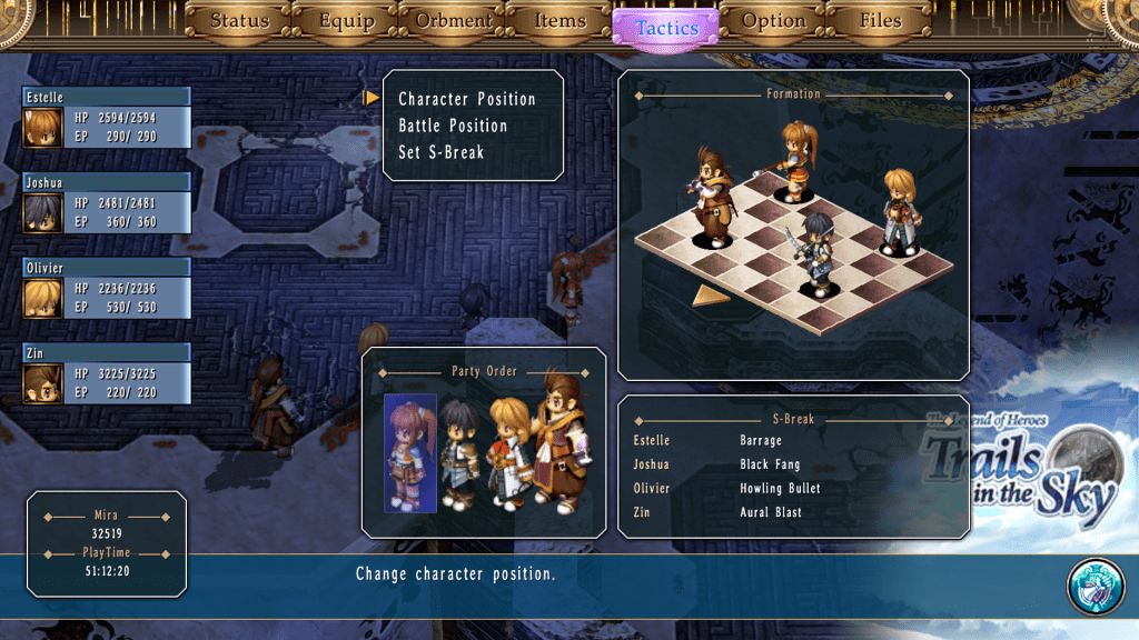 Trails in the Sky Tactics