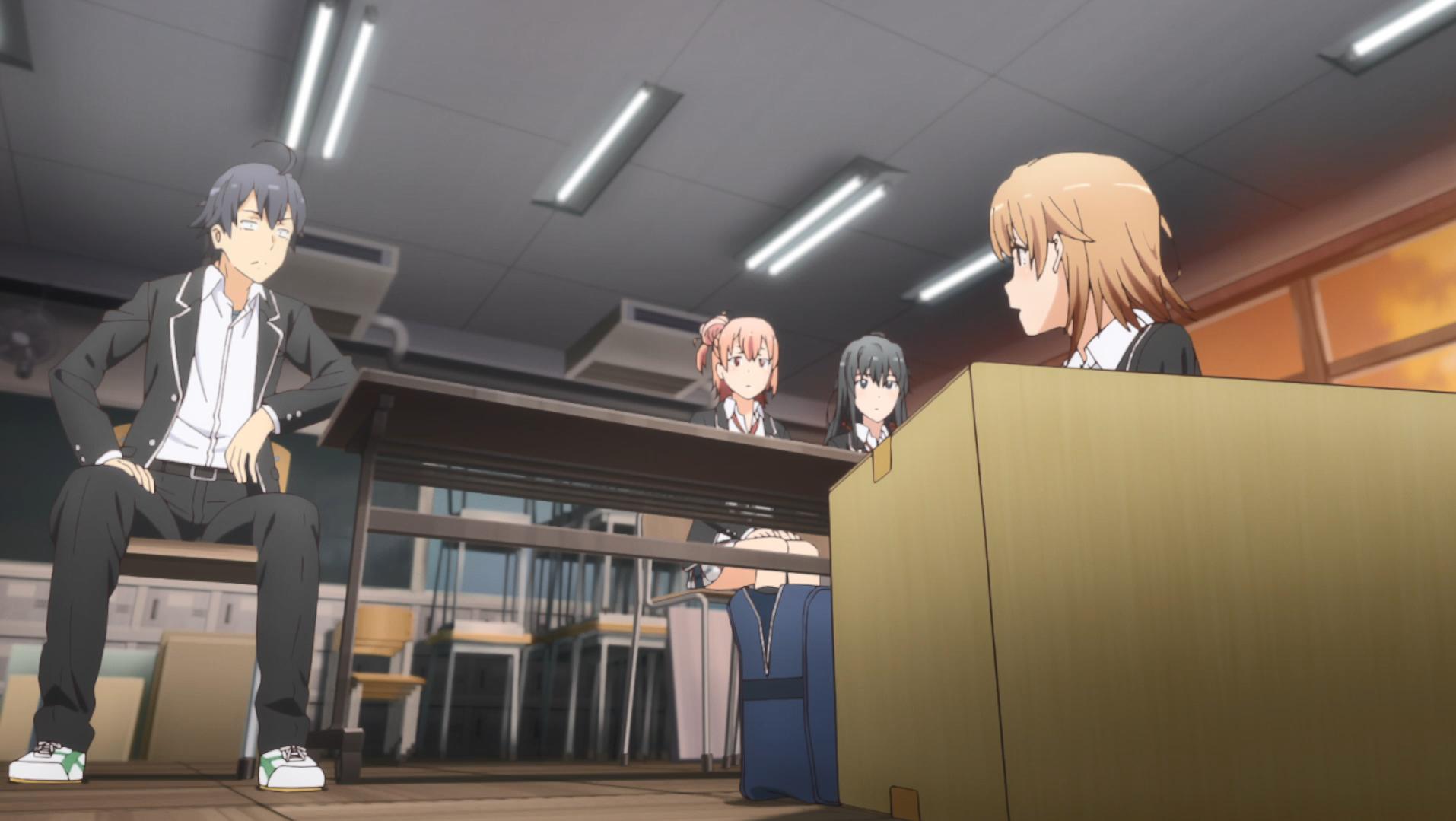 Oregairu Kan_episode 2 Iroha confrontée Hachiman