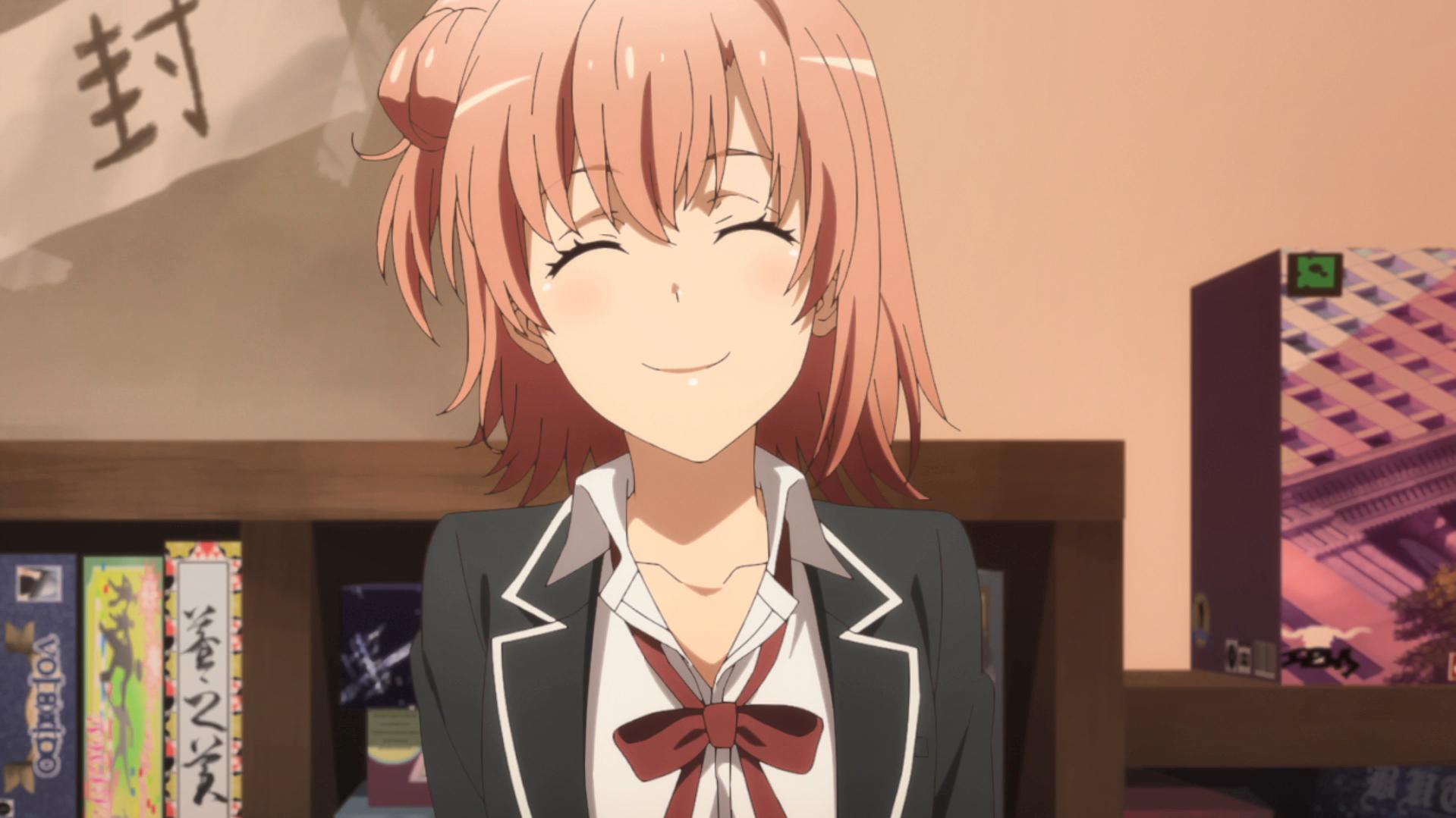 oregairu yui sourire
