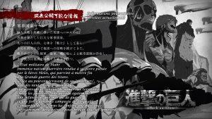 Eyecatch – Shingeki no Kyojin Saison finale