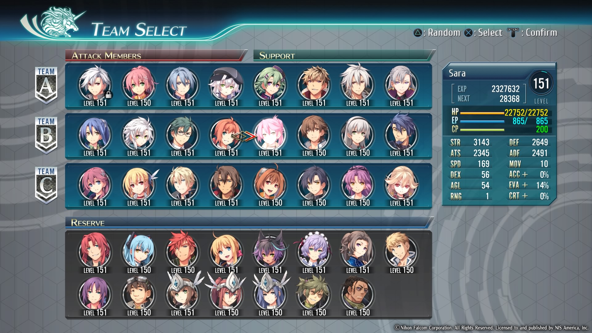 The Legend of Heroes: Trails of Cold Steel IV Casting