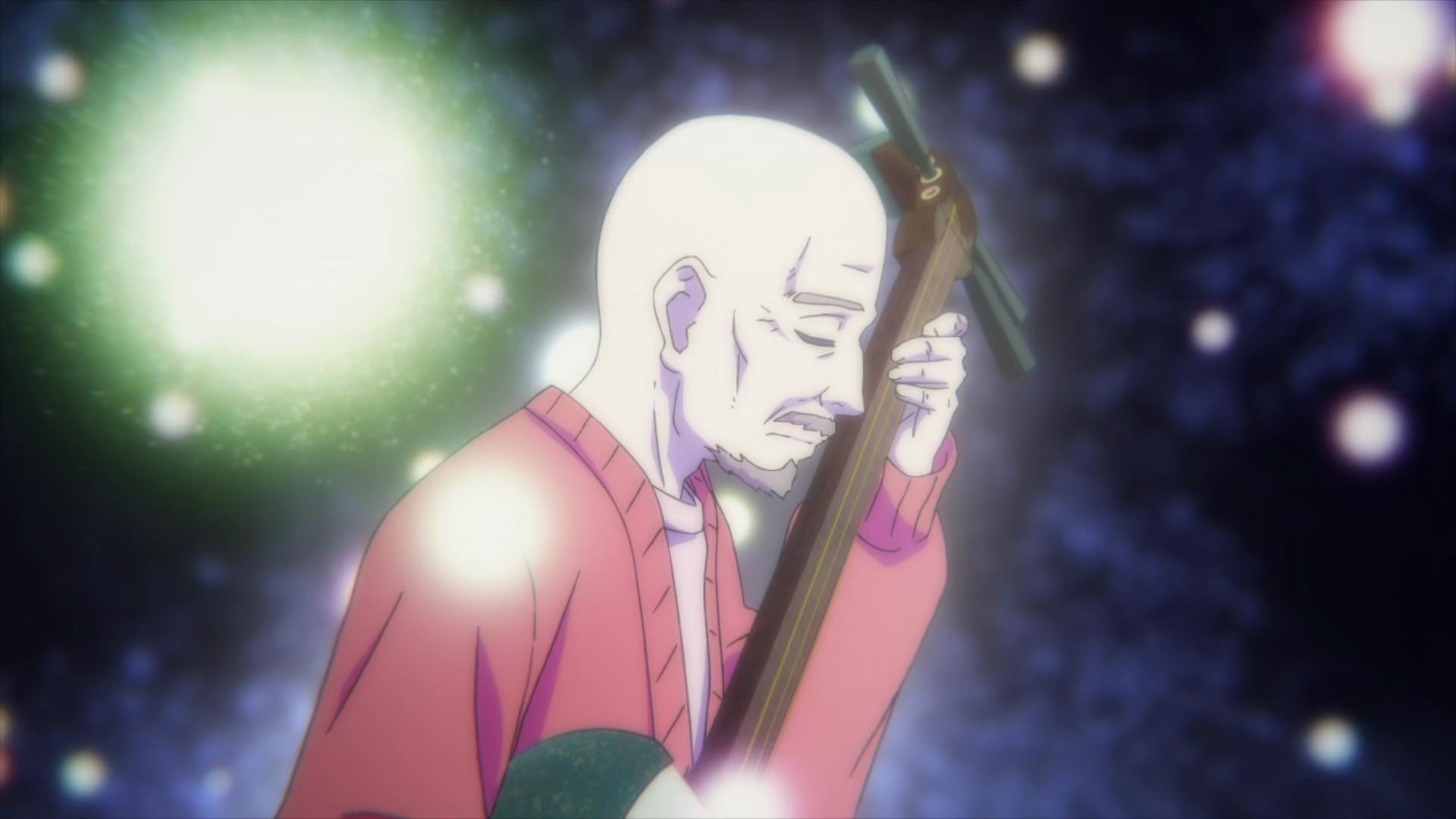 Mashiro no Oto grandfather Setsu shamisen