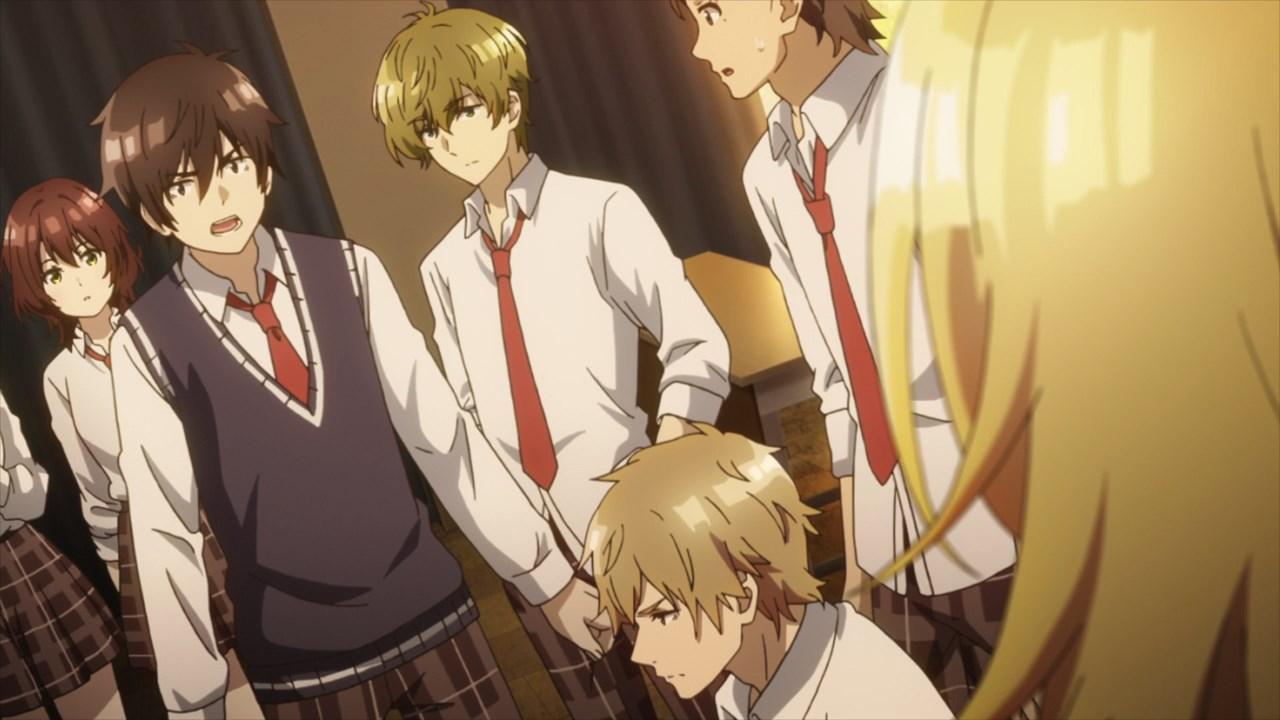 Jaku-Chara Tomozaki-kun schoolmates quarrel